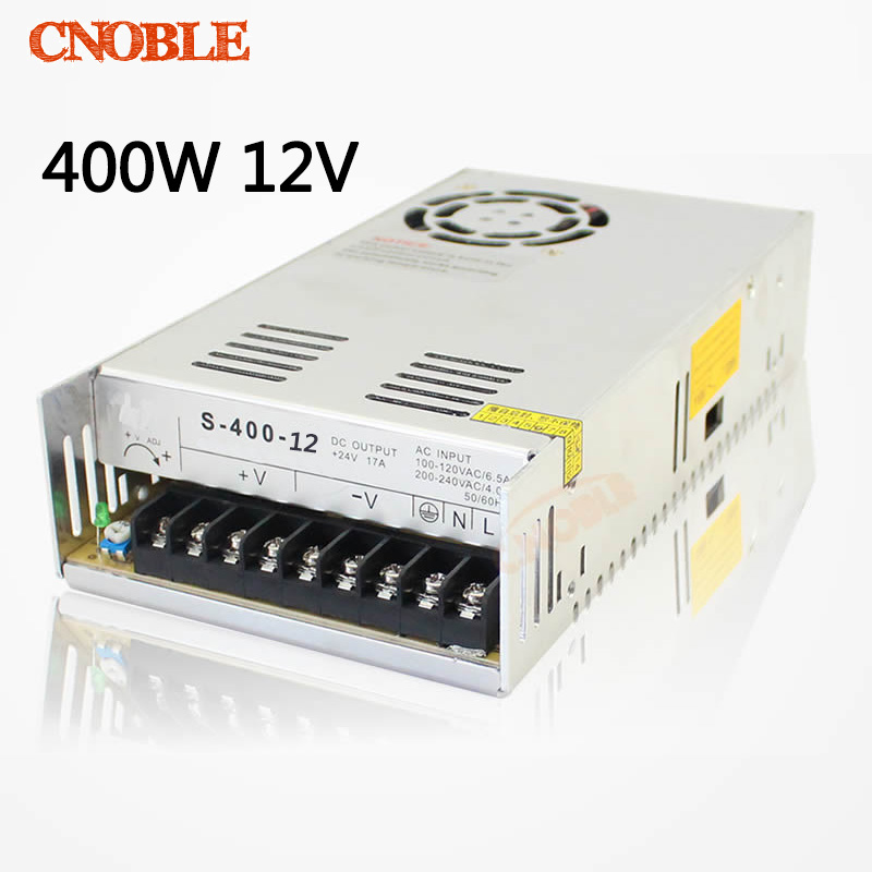 400W 12V 33A Single Output Switching power supply for LED SMPS AC to DC 1200w 12v 100a adjustable 220v input single output switching power supply for led strip light ac to dc
