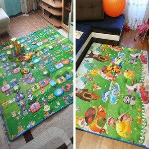 Image 5 - 1 センチメートル 0.5 センチメートル厚いベビークロール教育アルファベットゲーム敷物子供のためのパズル活動ジムカーペット Eva 泡子供のおもちゃ