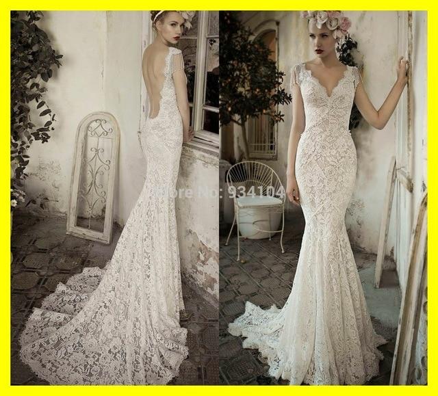 Silver Wedding Dresses Guests Dress Short Classy Mermaid Floor Length Chapel Train Pattern V