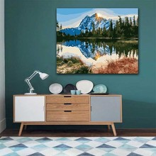 DIY colorings pictures by numbers with colors Beautiful mountain of nature picture drawing painting framed Home