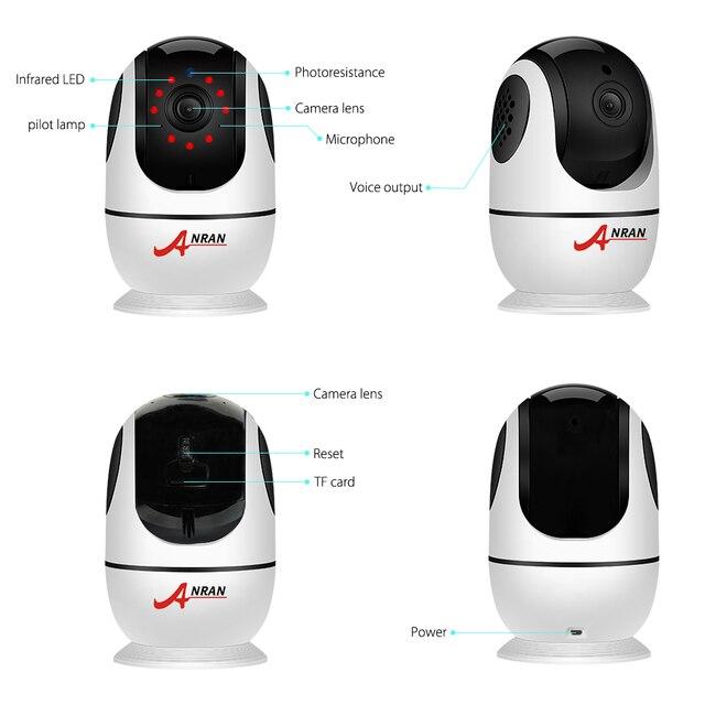 ANRAN 1080P caméra IP sans fil caméra de sécurité à domicile caméra de Surveillance Audio bidirectionnelle Wifi Vision nocturne caméra de vidéosurveillance IPC360
