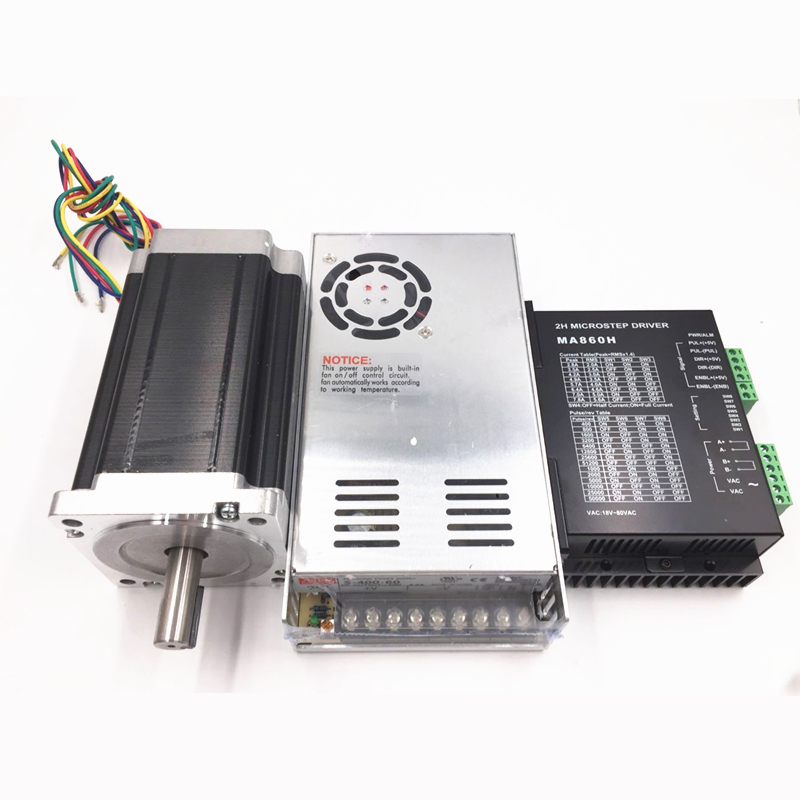 New 1 Axis Nema 34 Stepper Motor Dual Shaft 928oz-in CNC Stepper Kit ,Power Supply+Stepper Motor+Drive+5 axis CNC breakout board new double shaft motor nema 23 stepper