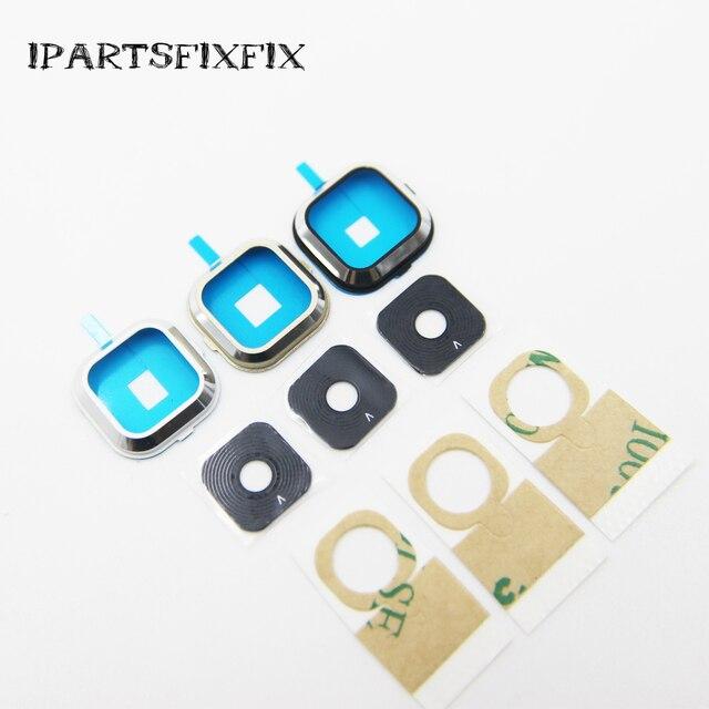 10pcs/lot New For Samsung A5 A5000 SM-A500 A500F A7 A7000 A700F Camera Lens Cover Glass Frame Silver black