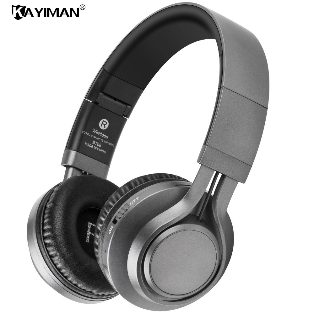 New Active Noise Cancelling Wireless Bluetooth Headphones wireless Headset with microphone MP3 for phones KAYIMAN