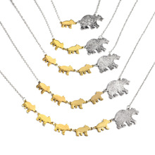 Mama Bear And Bear baby Necklace 1 Mother And 1-5 Children Pendant Jewelry Share With You Mother Child Family