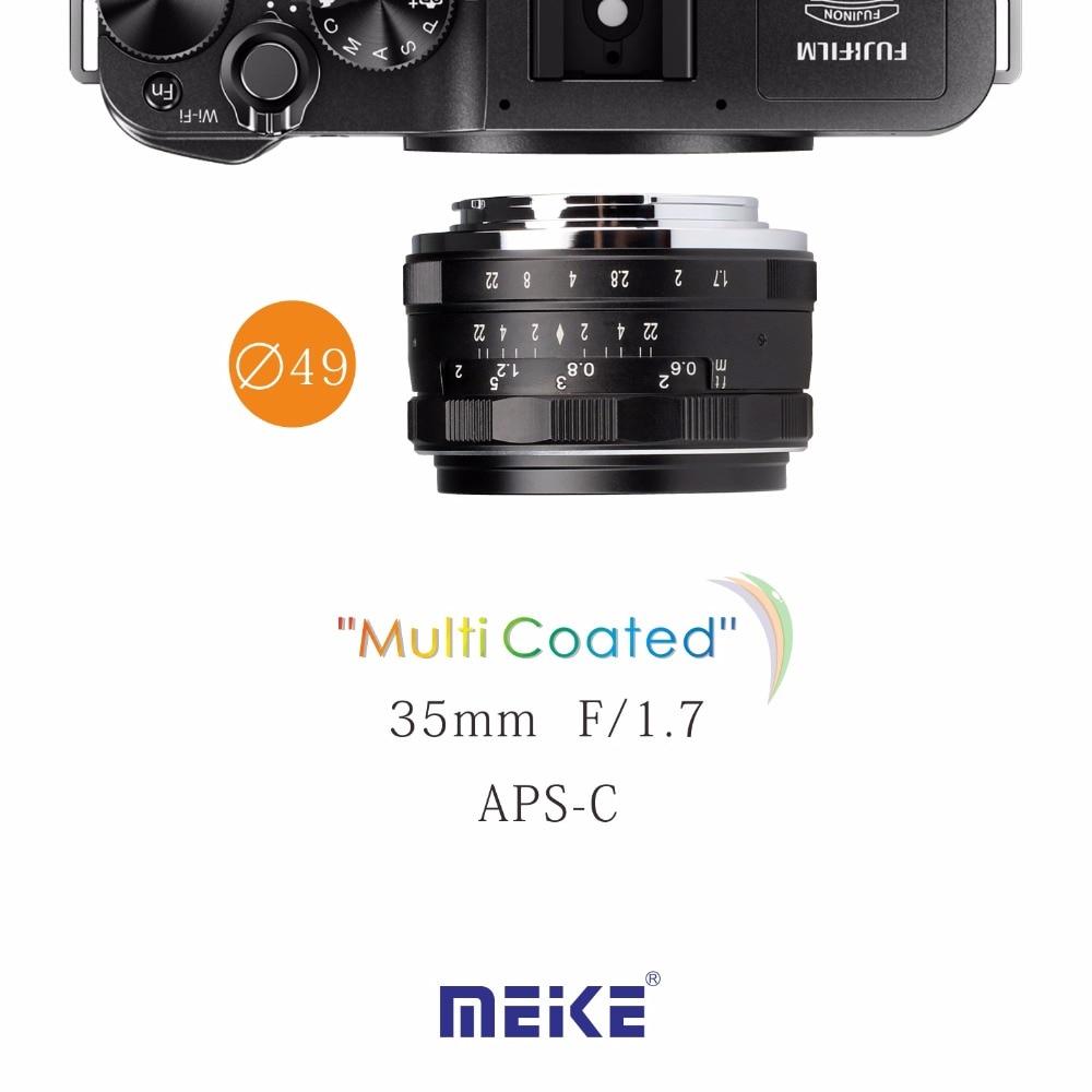 Meike MK-FX-35-1.7 35mm f1.7 Large Aperture Manual Focus lens APS-C FUJI XPro2/XT1/XA2/XE2/XE2s/X70/XE1/X30/X70/XM1/XA1/XPro1 metco meike mk f af3 fuji микро сингл крупным планом кольцо