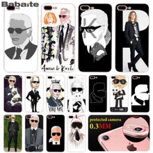 Babaite Karl Lagerfeld Art Transparent TPU Soft Rubber Phone Case Cover for iPhone X XS MAX 6 6S 7 7plus 8 8Plus 5 5S XR