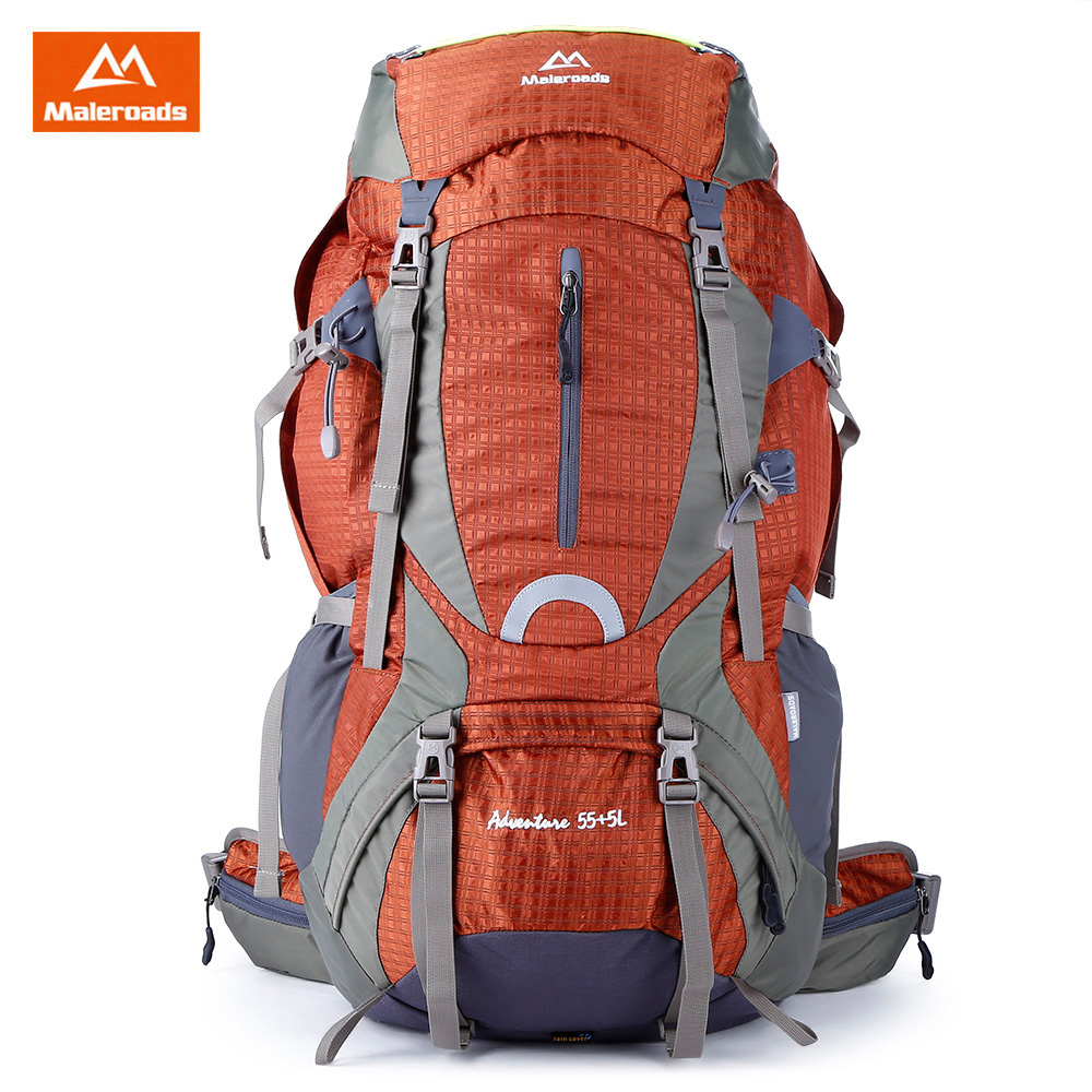 2c4cc8c741329 Maleroads 60L Super Water Resistant Outdoor Backpack Nylon Fabric Outdoor  Backpack Camping Hiking Bike Multifunctional Backpack