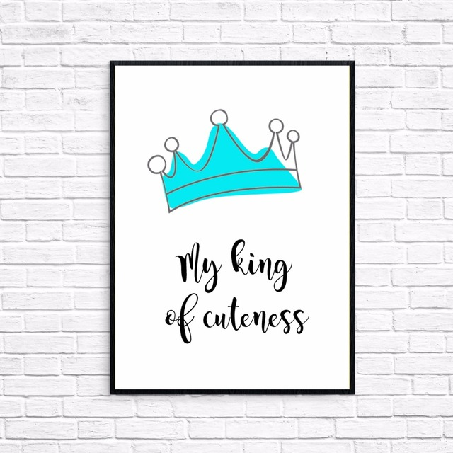 Canvas Print Painting Kid Room Wall Picture Sweet Cartoon Crown My ...