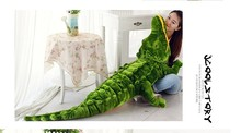 stuffed animal green crocodile plush toy about 150cm crocodile doll throw pillow c7750