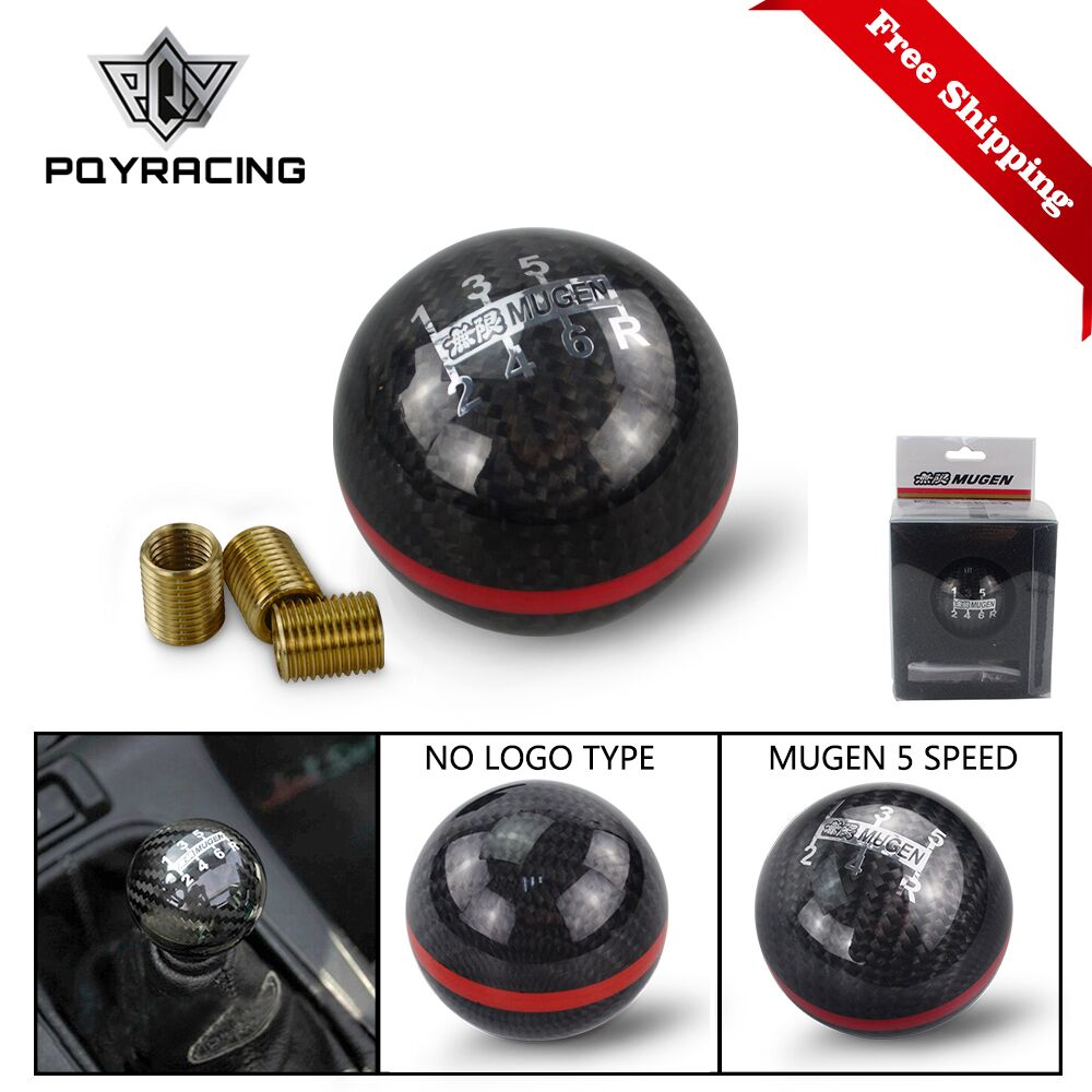 Universal Genuine Carbon Fiber Mugen Five / six Speed Manual / Automatic Spherical Gear Shift Knob For Honda Acura TOYOTA GSK06-in Gear Shift Knob from Automobiles & Motorcycles