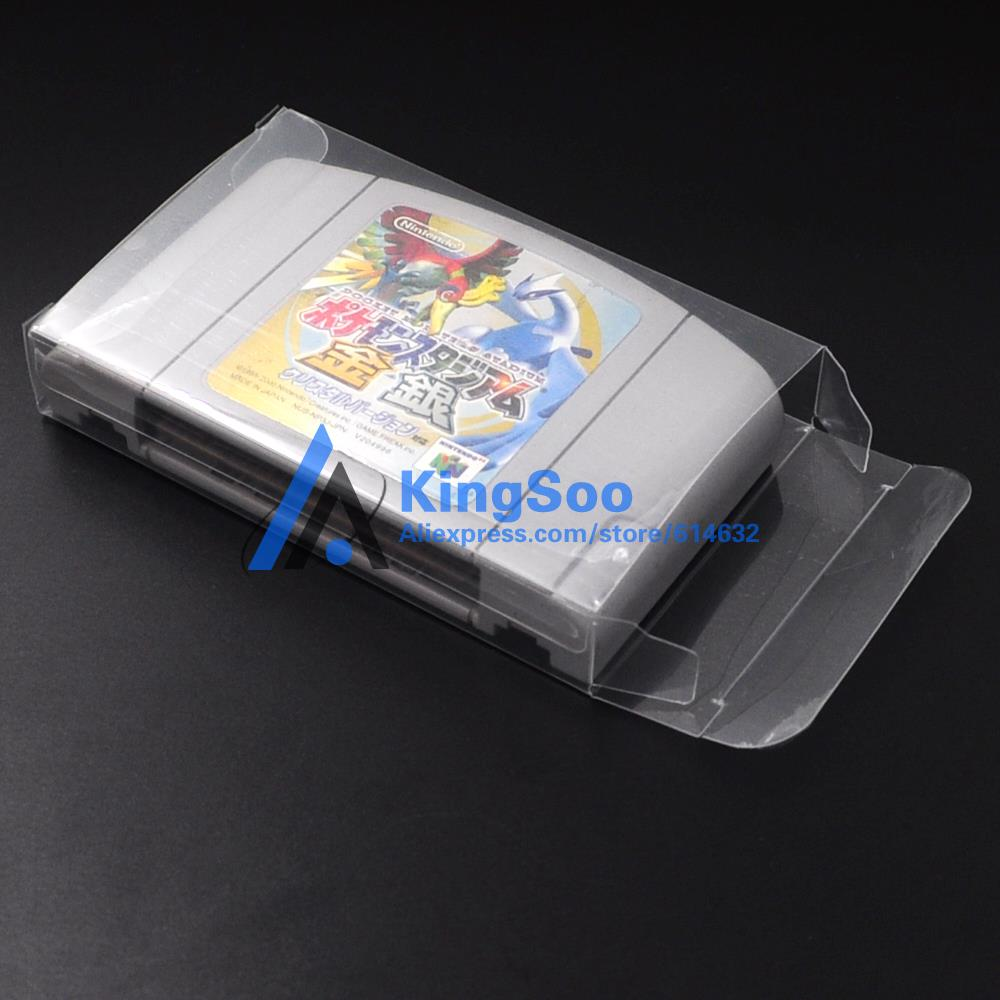 For Nintendo 64 N64 Game Card Cartridge Boxes Plastic PET Protective Case Box