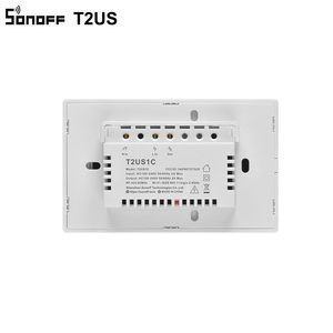 Image 5 - SONOFF T2US TX Smart Wifi Touch Wall Light Switch With Border Smart Home 1/2/3 Gang 433 RF/Voice/APP Control Works With Alexa