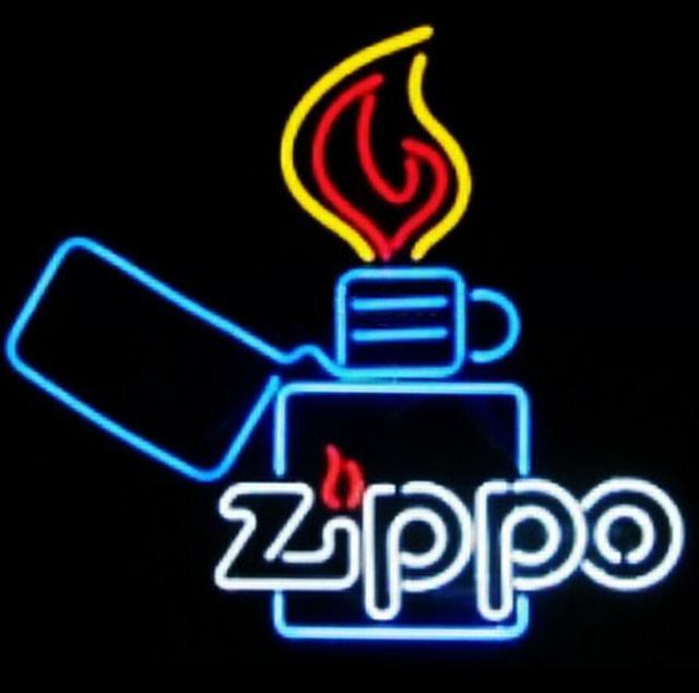 Custom Zippo Neon Light Sign Beer Bar
