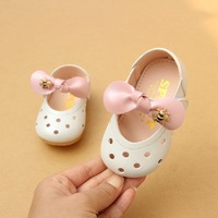 2018 Hot Shallow Hollow Baby Girls Soft Leather Shoes Infant Baby Toddler Shoes EU 15 19