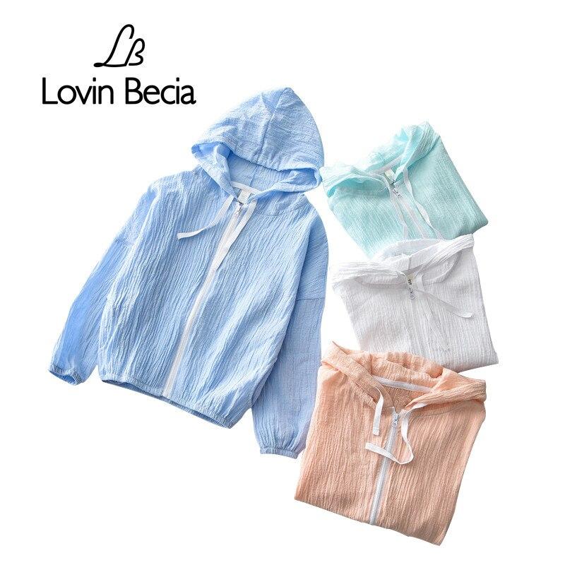 Летние Детские Верхняя одежда с капюшоном дети белье ветровка для кондиционирования воздуха одежда для мальчиков и девочек солнцезащитный...