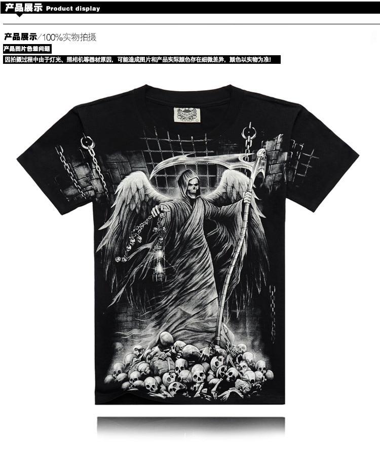 735a0fc08a Homens osso  nova Moda homens Crime é o anjo da morte veio selvagem ...