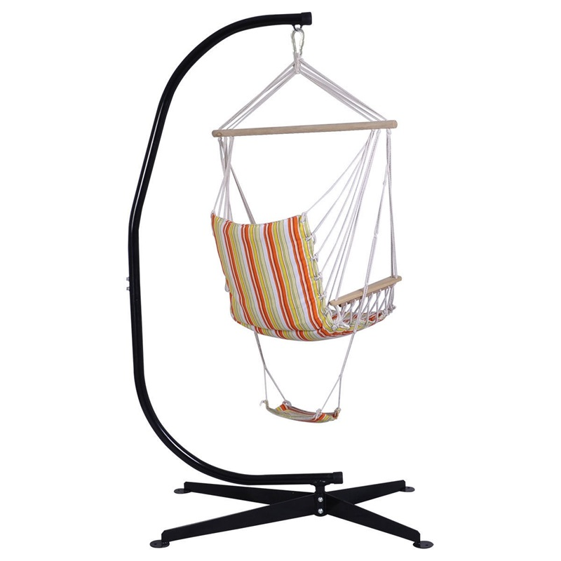 Garden Patio Hammocks Hammock Swing Chair Stand Frame Solid Steel Outdoor Garden Patio Hanging Camping Garden Patio Breadcrumbs Ie