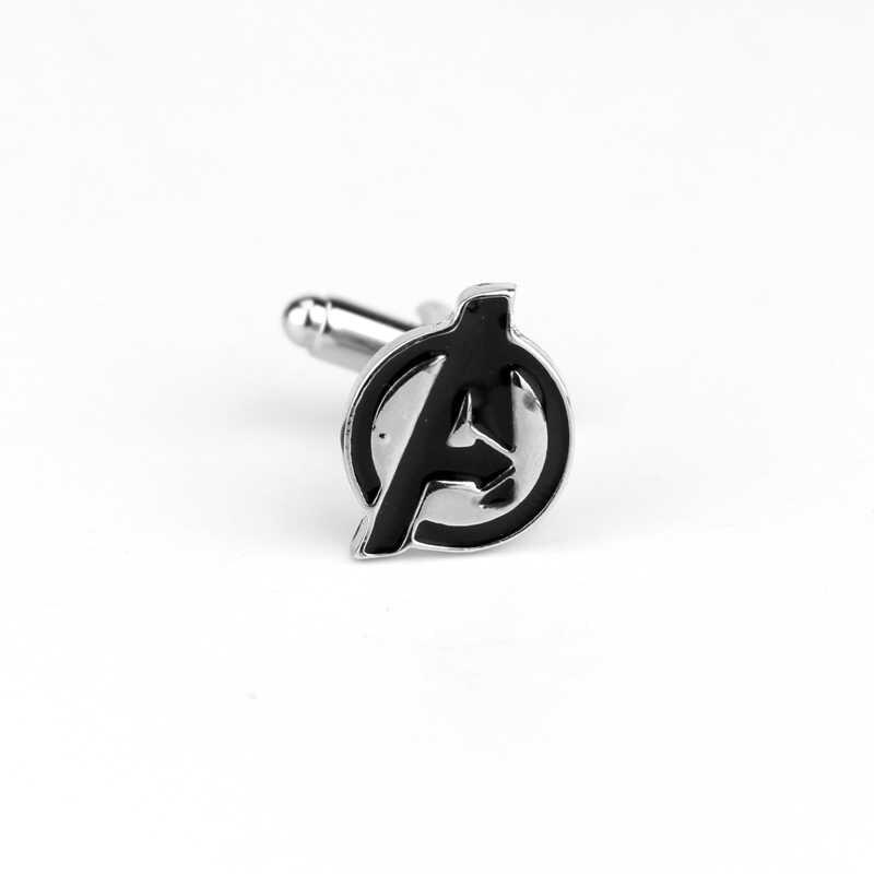 Dongsheng модные фильм ювелирные изделия Marvel Мстители Эмаль Запонки рубашки бренд пуговицы на манжеты, запонки для мужчин Abotoadura -- 40