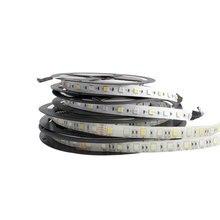LED Strip RGB 12V 24V 5050 SMD 60LEDs/m LED Light strip DC 5 M 12 24 V Volt ledstr ambilight waterproof lamp Ribbon TV Backlight led smd 5050 ac 220 v 60 leds m led licht led strip flexibele light 1 m 2 m 3 m 4 m 5 m 6 m 7 m 8 m 9 m 10 m 11 m 12 m stekker