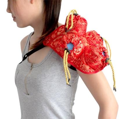 Querysystem cauterize quality silks and satins shoulder pad 4 moxa moxibustion box moxa roll