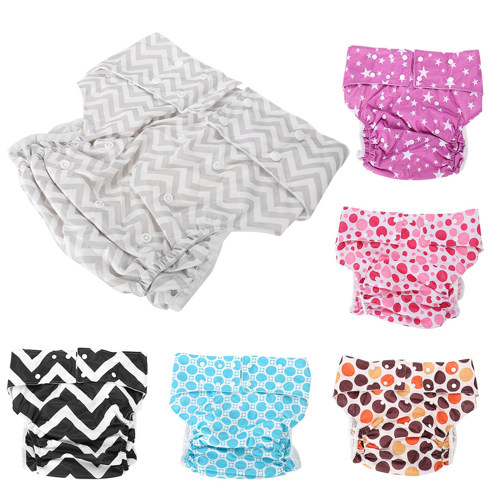 Large Size Adult Cloth Diaper Nappy Reusable Adjustable Soft Leakproof Ultra Absorbent Incontinence Pants Washable Diapers