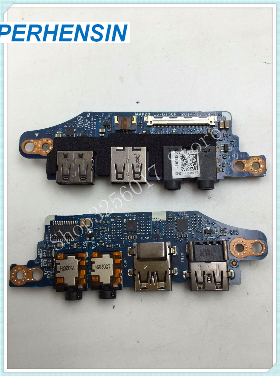 Genuine FOR DELL FOR Alienware 17 R2 IO USB Audio Port Board LS-B758P AAP20 CN-04RWN1 04RWN1 4RWN1 inkjet printer infinity challenger fy 3206 fy 3208 fy 3278 phaeton io board for seiko 510 usb io card