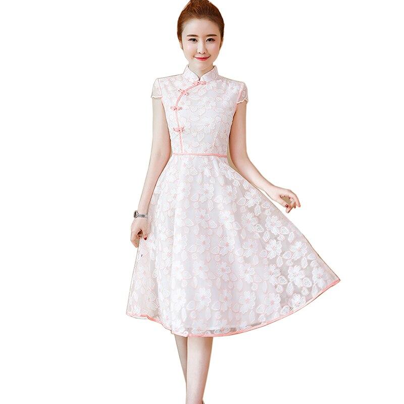 2018 Vintage broderie été mini robe femmes Sexy évider dentelle robe élégante décontracté robe de bal robes de soirée robes