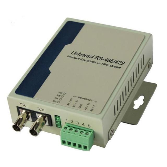 Bidireccional RS485 puerto Serial de datos multiplexor óptico módem de fibra bidireccional Dual fibra multimodo 2 km ST grado Industrial 2 unids