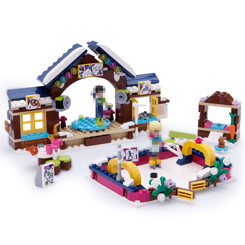 LEPIN 01043 Friends Series 328pcs Snow Resort Ice Rink Compatible With Legoed 41322 Building Blocks Bricks Toys For Girls Gifts dahle 41322