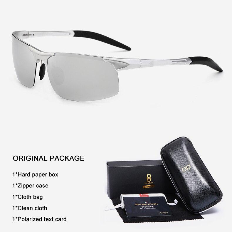 Bruno Dunn Driving polarized Men sunglasses 2020 sports High Quality UV400 Aluminum sun glasses for male oculos de sol masculino 15