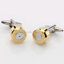 Promoción Leptón Bullet Diseño gemelos para Mes Nueva Moda Color Oro Plateado Estilo Bullet Mejor Regalo Para Los Hombres al por mayor y al por menor