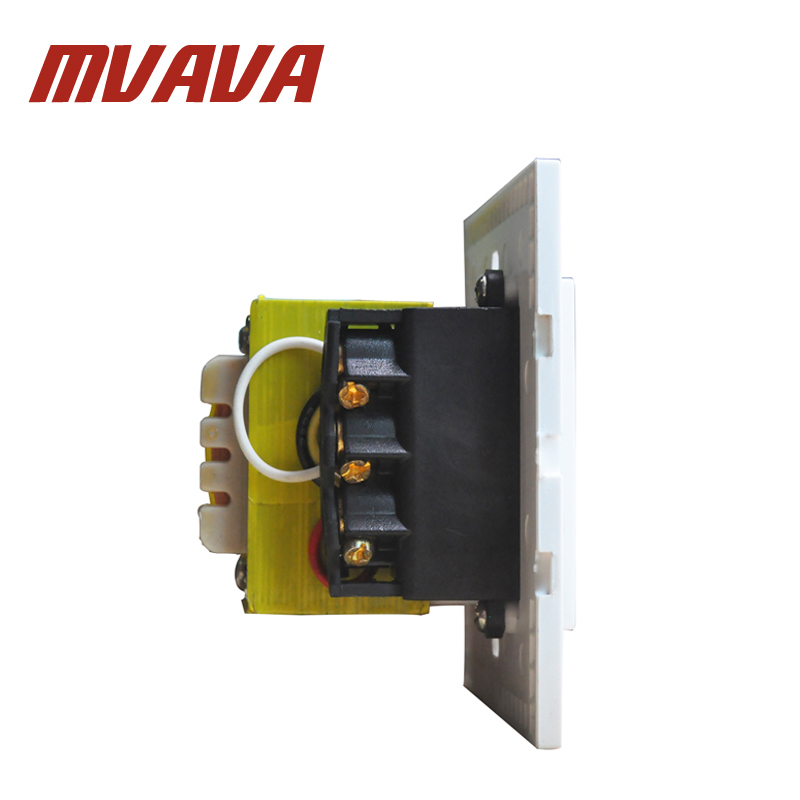 MVAVA Dual Voltage Wall Shaver Socket Beard Shaver Charge Wall Socket Luxury Crystal White Panel 20VA 110V 240V Free Postage in Electrical Sockets from Home Improvement