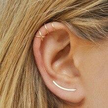 Hot Cute New Romantic Small U shape Gold/Silver/Black hot Lovely Cross Shape Hoop Earrings for Women Party Girlfriend Gift