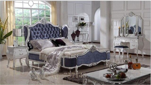 Madera maciza de lujo cama antigua estilos roble muebles de ...