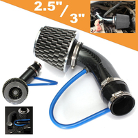Universal 76mm Car Cold Air Intake Filter Induction Kit Pipe Hose System Carbon Fit For any 64mm / 76mm Air Intake Hose