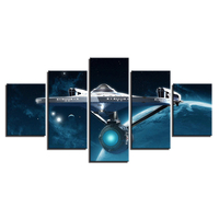 Wall Modular Popular Picture Poster Photo 5 Panel Star Trek Prints Painting Abstract Art For Living