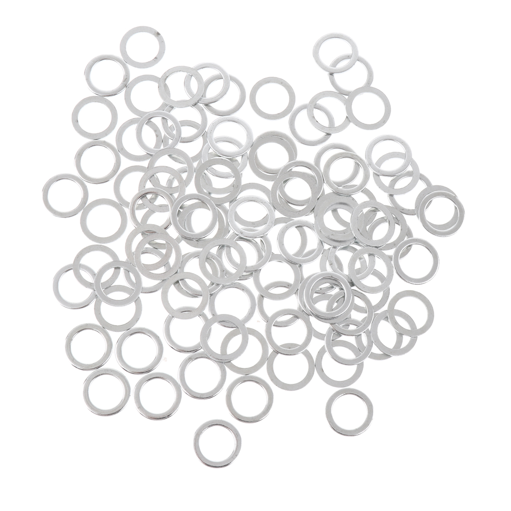100pcs Heavy Duty Silver Speed Washers Longboard Bearing Washers Outdoors Skateboarding Accessories