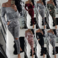 KAYWIDE 2016 Mulheres Inverno Romper Série Moda Velour Playsuits Sensuais Bodysuits Outono Escavar Macacões Para As Mulheres A16619
