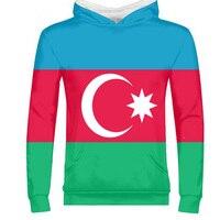 AZERBAIJAN male youth custom made name number photo flag tees aze country zipper sweatshirt azerbaijani nation az boy clothes