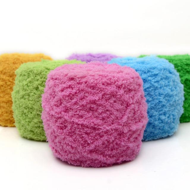5 bolas/Lot tres hebras línea toalla coral Cachemira Bufandas lana ...