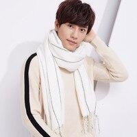 Fashion Winter Striped Scarf Warm Unisex Adult Scarves Korean Style Wool Men Women Cashmere Long Soft