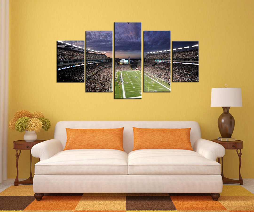 American Football Field Wall Art Canvas Painting for Room Wall Decor City Night View Landscape Poster Art Prints Home Decoration