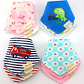 45 Pattern Cute Cotton Baby Towel Toddler Newborn Triangle Scarf Babero Girls Feeding Smock Infant bibs Burp Cloths