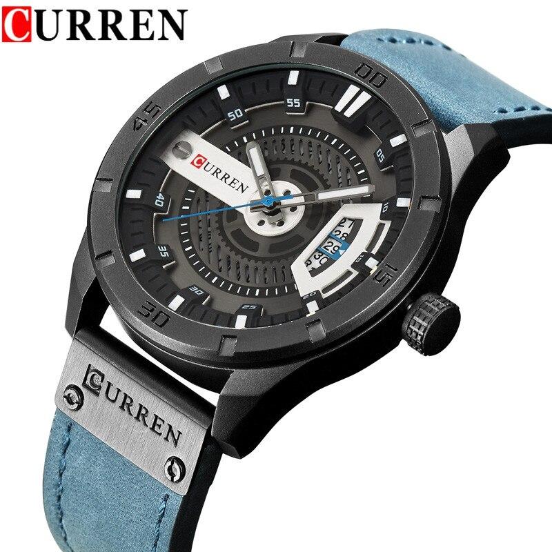 3e1b1ce26b9 Detail Feedback Questions about Relogio Masculino CURREN Watch Men  Waterproof Calendar Sport Military Male Clock Top Brand Luxury 3D Dial Man  Wristwatch ...