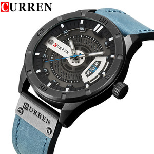 Image 1 - Relogio Masculino CURREN Watch Men Waterproof Calendar Sport Military Male Clock Top Brand Luxury 3D Dial Man Wristwatch 8301