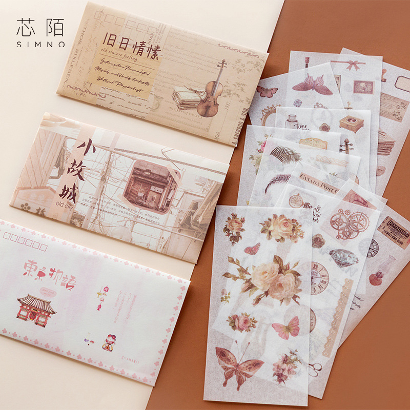 10 Pcs/pack Summer Bullet Journal Decorative Stickers Adhesive Stickers DIY Decoration Diary Stationery Stickers Children Gift