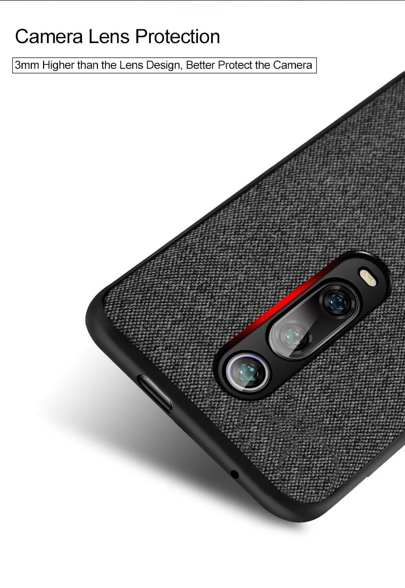 HTB1hBinaG5s3KVjSZFNq6AD3FXaQ for Xiaomi Mi 9T Pro case cover protective fabric cloth silicone back capas MOFi original global Mi9T business case