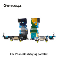 50pcs/lot Charging Flex For iPhone 8 8G 4.7 inch USB Charger Port Dock Connector Replacement Cellphone Parts With Mic Flex Cable