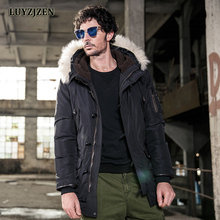 Brand Parka Men 2017 New Arrival Winter Jacket Men Fashion Design Big Fur Hooded Duck Down Men's Long Jackets Coat Homme F26
